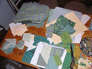 Green scrap quilt