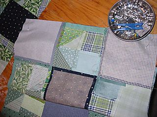 Green quilt almost