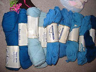 Blue yarn find