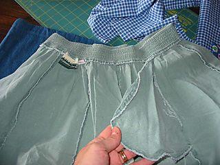 Skirt into bag