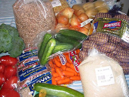 Mexican market foods