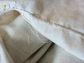 Linen blouse sewing