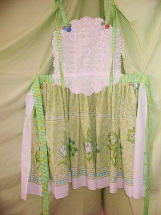 Green bodice apron