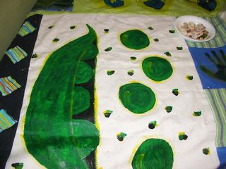 Pea quilt in progress