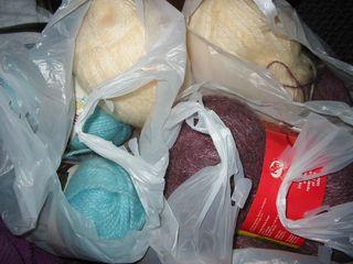 3 bags of yarn