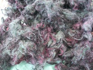 Mohair gray to pink