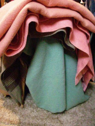 Stacked blankets