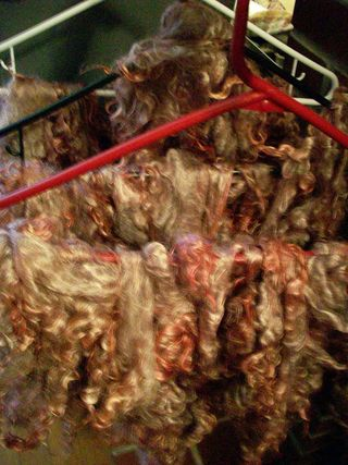 Olive mohair
